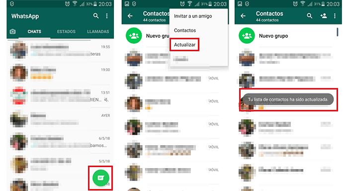 Actualizar Los Contactos De WhatsApp En Un iPhone y Android