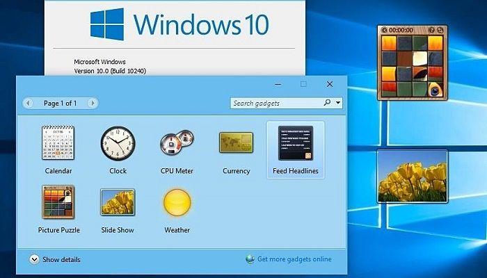 Cómo Habilitar Gadgets De Escritorio En Windows 10